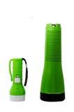 Ficklampa i den gröna färgen Royaltyfria Foton