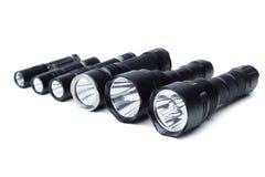 Ficklampor för att campa i olika format royaltyfria bilder