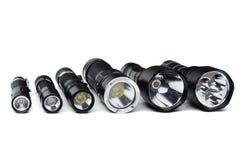 Ficklampor för att campa i olika format royaltyfria foton