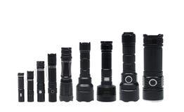 Ficklampor för att campa i olika format fotografering för bildbyråer