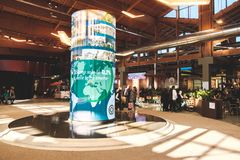 Visitor centre Fico Eataly World Fabbrica Italiana Contadina showcase Italian food companies. Fico Eataly World, acronym of Fabbrica Italiana Contadina, the stock photo