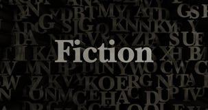 Fictie - 3D teruggegeven metaal gezette krantekopillustratie royalty-vrije illustratie