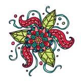 Fictieve bloemen met Tentakels Stock Afbeeldingen