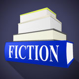 Fiction Book Indicates Imaginative Writing And Books. Fiction Book Representing Story Telling And Literature Stock Photos