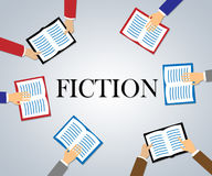 Fiction Books Represents Creative Writing And Education Royalty Free Stock Photography