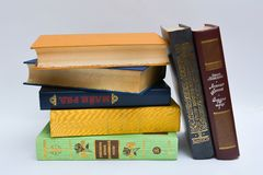 Fiction books on table Stock Photo