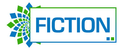 Fiction Green Blue Circular Bar. Fiction text written over green blue background Royalty Free Stock Photo