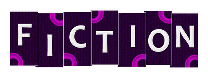 Fiction Purple Pink Rings Horizontal. Fiction text written over pink purple background Stock Photography