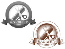 Fictional barbershop logo Stock Photo