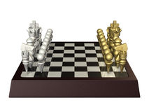 Fictional board game, similar to chess. Isolated computer generated image Stock Photography