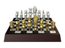 Fictional board game, similar to chess. Isolated computer generated image Royalty Free Stock Photography