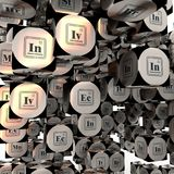 Fictional business chemical elements Royalty Free Stock Photography