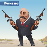 Fictional cartoon character - bandit Pancho Royalty Free Stock Photography