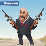 Fictional cartoon character - bandit Pancho Royalty Free Stock Photography