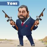 Fictional cartoon character - bandit Toni Royalty Free Stock Image