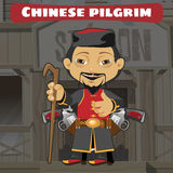 Fictional cartoon character - chinese pilgrim Royalty Free Stock Image