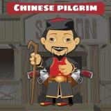 Fictional cartoon character - chinese pilgrim Royalty Free Stock Image