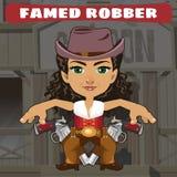 Fictional cartoon character - famed robber. Wild West fictional cartoon character - famed robber Stock Photos