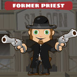 Fictional cartoon character -  former priest Stock Image