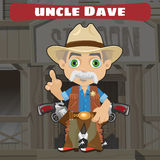 Fictional cartoon character in Wild West - Wise Stock Images