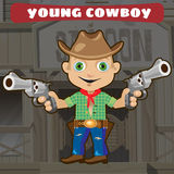 Fictional cartoon character - young cowboy. Fictional cartoon character of Wild West - young cowboy Royalty Free Stock Photo