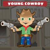Fictional cartoon character - young cowboy Royalty Free Stock Photo