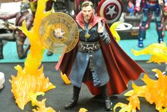Fictional character action figure Dr Strange from Marvel comics & movies. KUALA LUMPUR, MALAYSIA - OCTOBER 6, 2018: Fictional character action figure Dr Strange royalty free stock photos