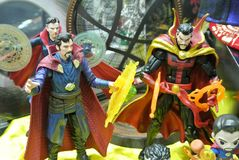 Fictional character action figure Dr Strange from Marvel comics & movies. KUALA LUMPUR, MALAYSIA - OCTOBER 6, 2018: Fictional character action figure Dr Strange stock images
