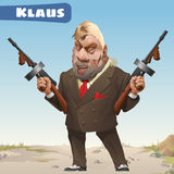 Fictional character - bandit Klaus Stock Image