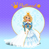 Fictional character doll Queen. In a gorgeous dress Stock Photo