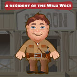 Fictional character, a resident of the Wild West Royalty Free Stock Photo