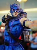 Fictional character superhero Hawkeye. BANGKOK, THAILAND - MAY 3, 2015: Fictional character superhero Hawkeye on the last day of Thailand Comic Con 2015, at Siam Stock Images