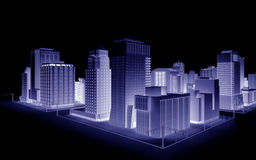 Fictional City. Illustration of a fictional city Stock Images