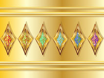 Fictional Diamonds. A set of sparkling, colourful fictional diamonds Stock Photos
