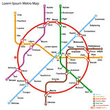 Fictional metro map. Vector illustration Stock Images