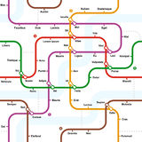 Fictional metro map seamless pattern Royalty Free Stock Image