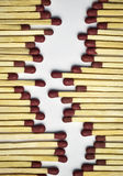 A fictional path of of matches. Abstract background or texture a fictional path of of matches royalty free stock images