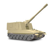 A fictional self-propelled artillery Royalty Free Stock Photography