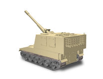 A fictional self-propelled artillery Stock Image