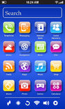 Fictional Smartphone screen Stock Image