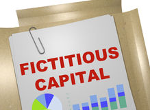 Fictitious Capital concept. 3D illustration of FICTITIOUS CAPITAL title on business document vector illustration