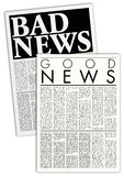 Fictitious newspapers vector illustration