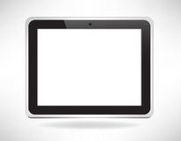 Fictitious touch tablet. Single simple fictitious touch tablet Royalty Free Stock Images