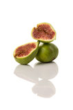Ficus carica, fig fruit on white isolated background Stock Images