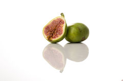 Ficus carica, fig fruit on white isolated background Stock Image
