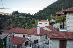 Fidakia mountain village in Greece Royalty Free Stock Photos