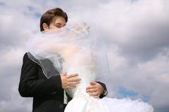 Fidanzato e sposa immagini stock