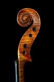 Fiddle. Detail of the musical instrument stock photography