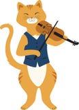 Fiddle Cat Fotos de archivo libres de regalías