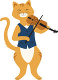 Fiddle Cat Royalty Free Stock Photos
